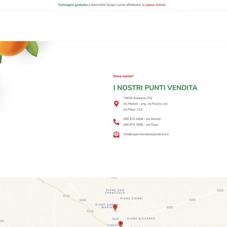 Supermercati SISA Avetrana Screen 01